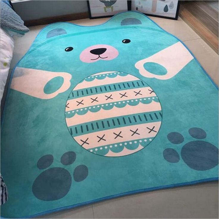 Soft 150*200cm Kids Baby Play Mats Toys Storage Bag Bear Cartoon Animal Carpet Rug Large Mat Carpet Portable kids Toys Alfombras