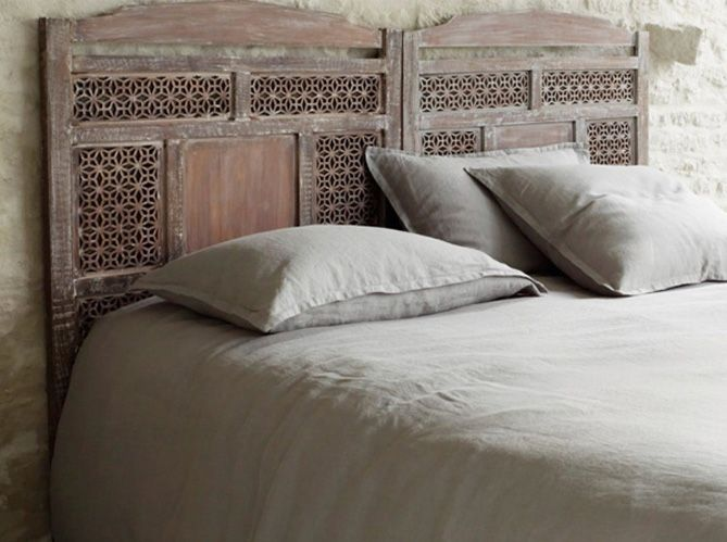 Moucharabieh (wooden lace) headboard  Furniture  Beds