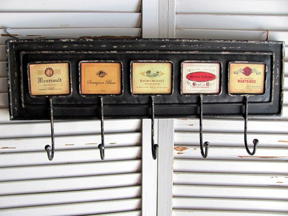 Metal Coat Hanger with Liquor Advertising by VintageLoversShop