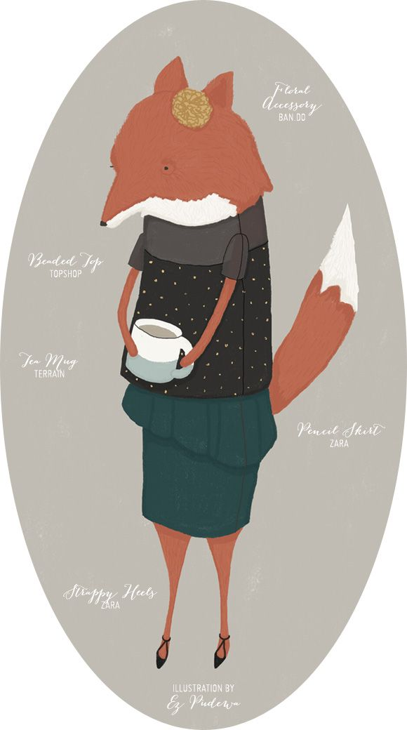 Outfit Inspiration: Audrey Enjoys Her Cup ofTea - Home - Creature Comforts - daily inspiration, style, diy projects + freebies