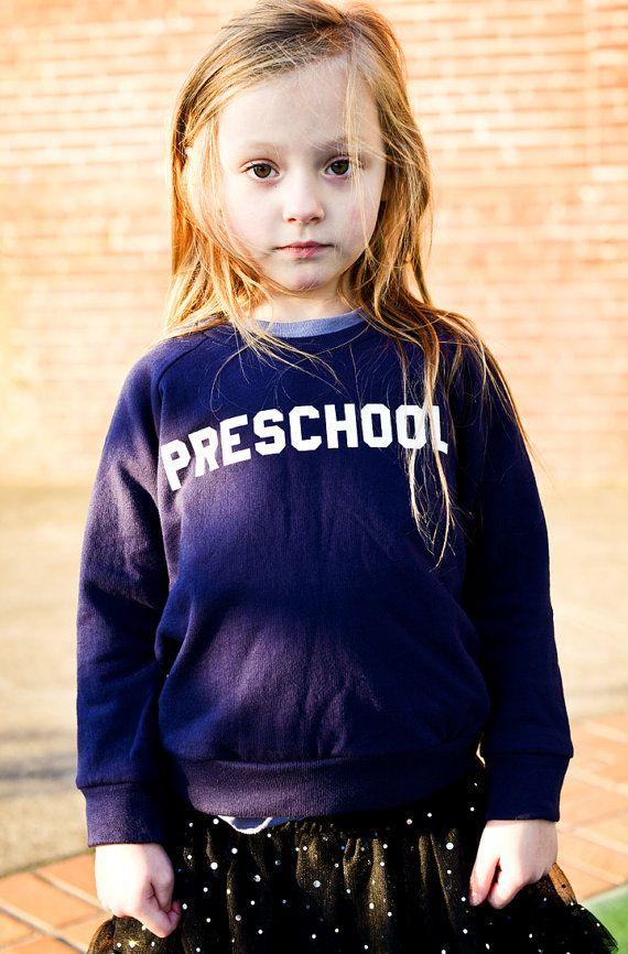 """Kids """"Preschool"""" Pullover Sweatshirt By Hatch For Kids"""