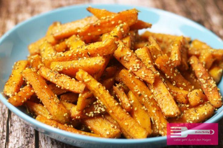 Kürbis Pommes (Low Carb)