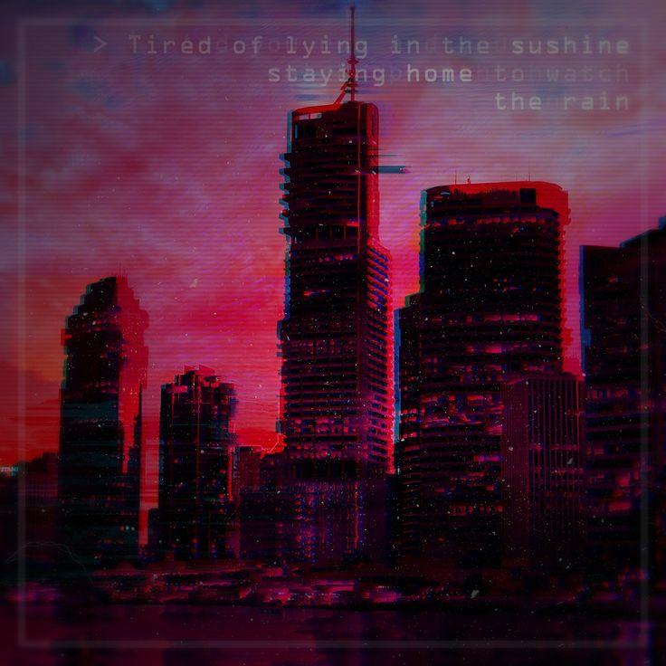 Pink Floyd's quotes makes everything better  #design #digital #edit #photoshop #retrowave #sadboys #vaporwave #pixelsorting  #city