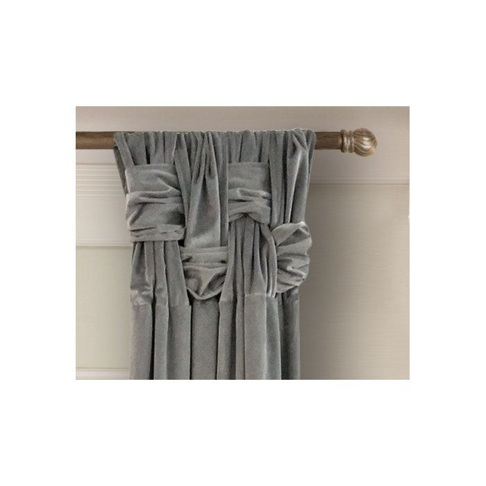 Elin Solid Room Darkening Pinch Pleat Single Curtain Panel Panel Curtains Room Darkening Curtains