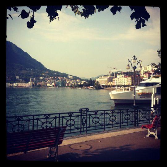 Beautiful Lugano in the Italian speaking part