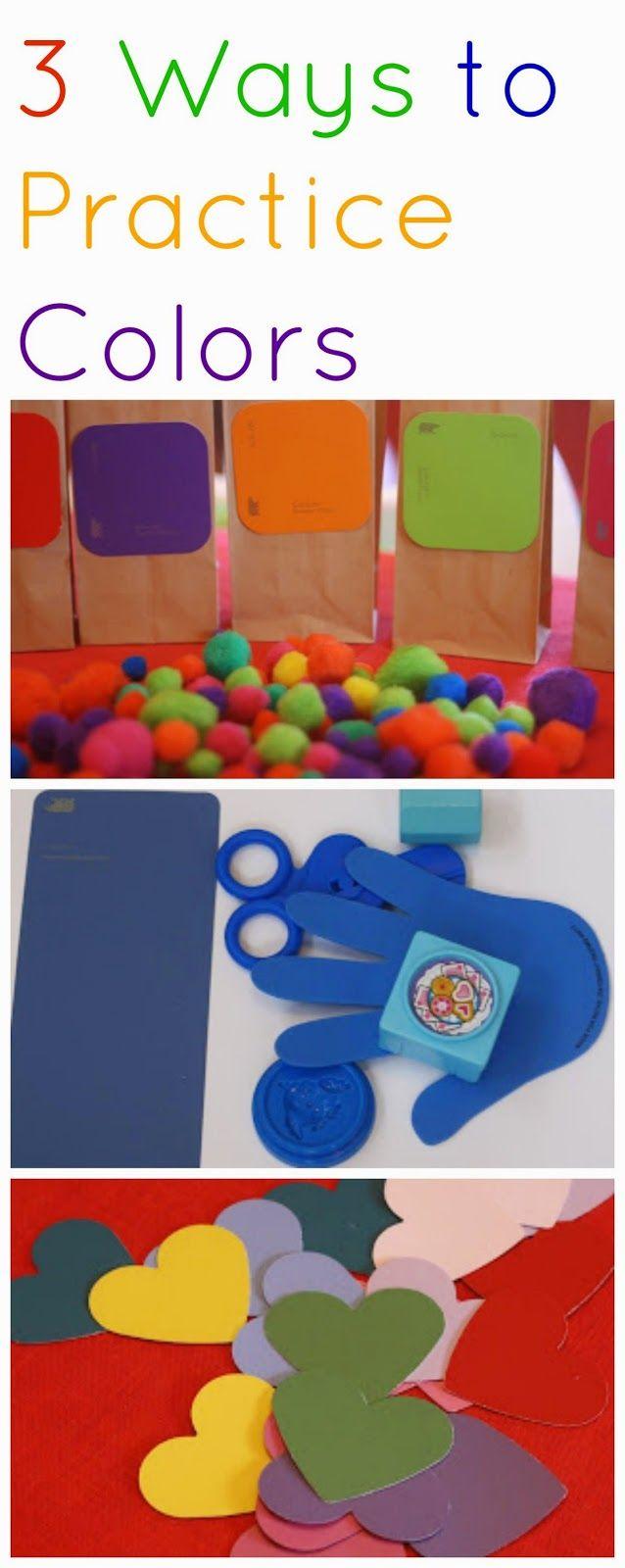 Unit study colors preschool - 3 Ways To Practice Colors Color Activitieskid