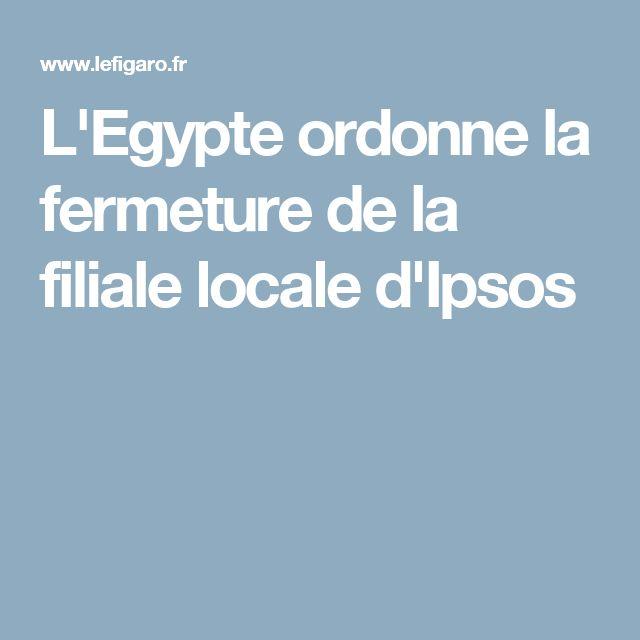 L'Egypte ordonne la fermeture de la filiale locale d'Ipsos