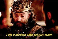 A Modern 13th Century Man | King Richard | Galavant | (gif)
