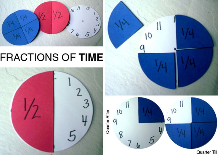 teaching time and fractions great combo