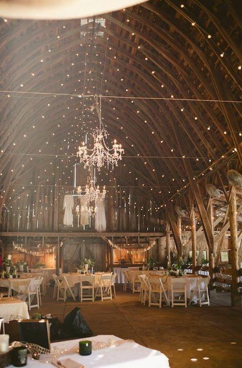 Reception in barn