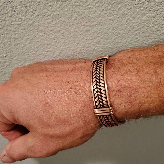 Men copper bracelet Men braided bracelet Boyfriend | Etsy   – Браслеты