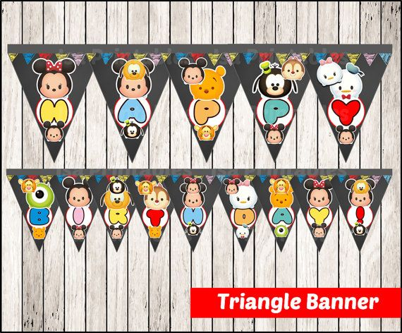 INSTANT DOWNLOAD Triangle Banner - Printable featuring Simply print, cut out, and attach and more.  ♥ ♥ ♥ This item cannot be modified in any way