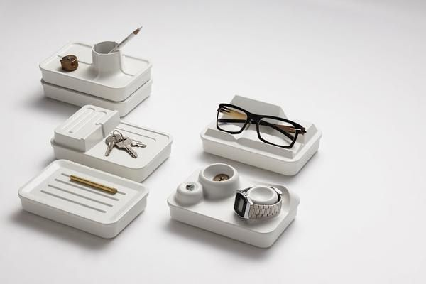 Chic desk organisation that fuses terrain scenes with clever design - your desk will be so organised and look so beautiful you won't want to leave it. It will keep your disorganisation calm! #deskorganisation #workstation #desktop #deskorganiser #stationery #organisationstation