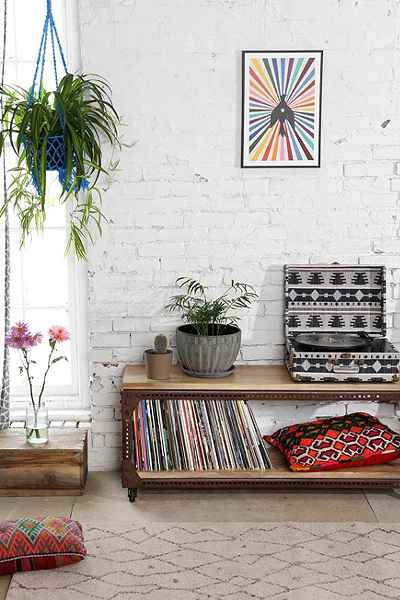 4040 Locust Industrial Media Console - Urban Outfitters | looking for something long and low to the ground to house all the vinyl / record player