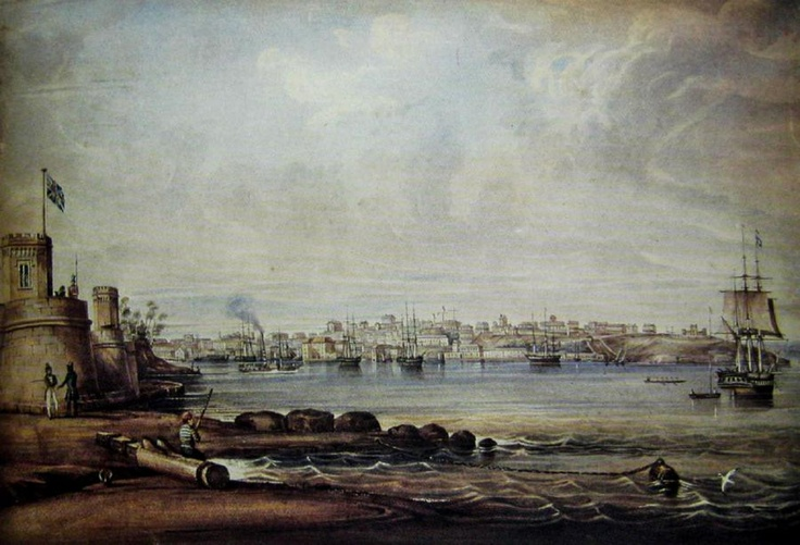 A View of Sydney from Fort Macquarie, Sydney  Frederick Garling