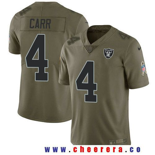 f4323c958 inexpensive mens oakland raiders 4 derek carr olive 2017 salute to service  stitched nfl nike limited