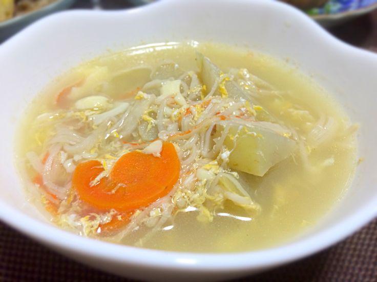 Tomoko Itoさんの料理 玉子豆腐とカニカマ使って簡単うまうまあんかけ冬瓜♥ 上海蟹の茹で汁で隼人瓜にしてみました。