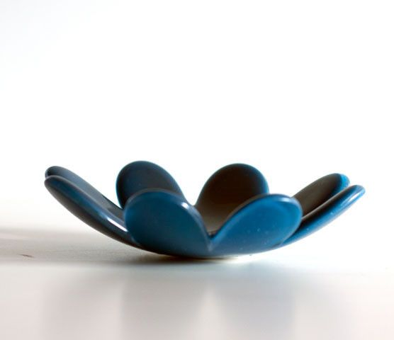Montages - The Glass Studio — Flower Dish - Blue