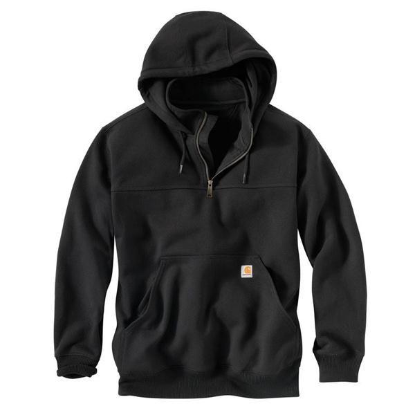 Carhartt Men's Black Rutland Thermal-Lined Hooded Zip Sweatshirt
