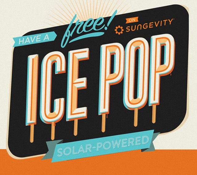 I just designed a bright orange popsicle truck that evangelizes solar energy. It is actually a popsicle truck covered in popsicle-shaped-infographics about solar energy that distributes free popsicles!
