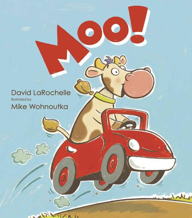 Moo by David LaRochelle. Hilariously told with just ONE word throughout, this is an awesome tale for all ages! Easily could be used in a classroom setting to talk about communication, also great for kids needing help with social skill development, about how we say things conveys meaning as well as the words themselves. Greta b / Sept 2014