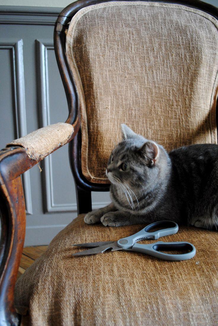 17 best ideas about retapisser un fauteuil on pinterest retapisser une chai - Retapisser une chaise ...