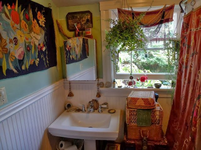 263 Best Beautiful Bohemian Style Bathrooms Images On Pinterest Bathroom Bathroom Ideas And