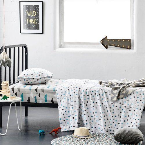 Adairs Kids Plain Dye Flannelette Cloud Sheet Set, kids flannelette, flannelette sheets