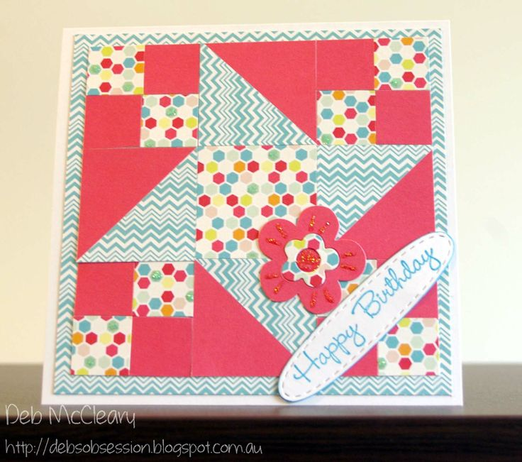 Quilted Card - Birthday theme