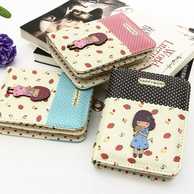 Cheap Nueva versión coreana de la historieta linda bolsita tipo de estudiante femenino multi card bit carácter muchachas del punto de cartera, Compro Calidad Monederos directamente de los surtidores de China: The new ultra-thin frosted small purse woman wallet female purse wallet card packUSD 6.86/pieceFashion hollow tide print