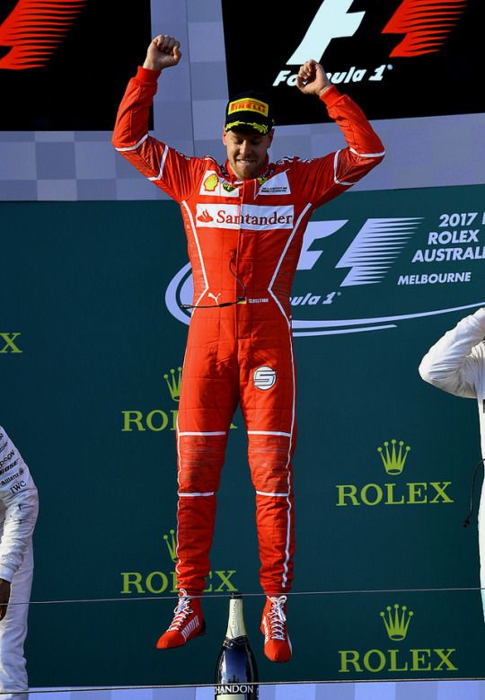 Sebastian Vettel wins the 2017 Australian GP