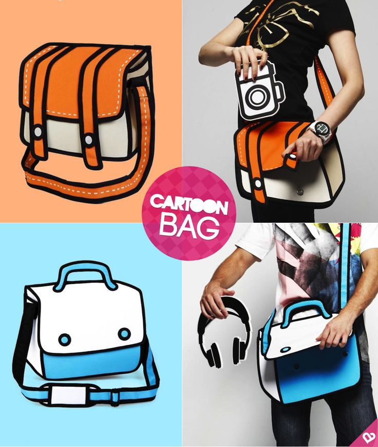 cartoon bag. I want these!!