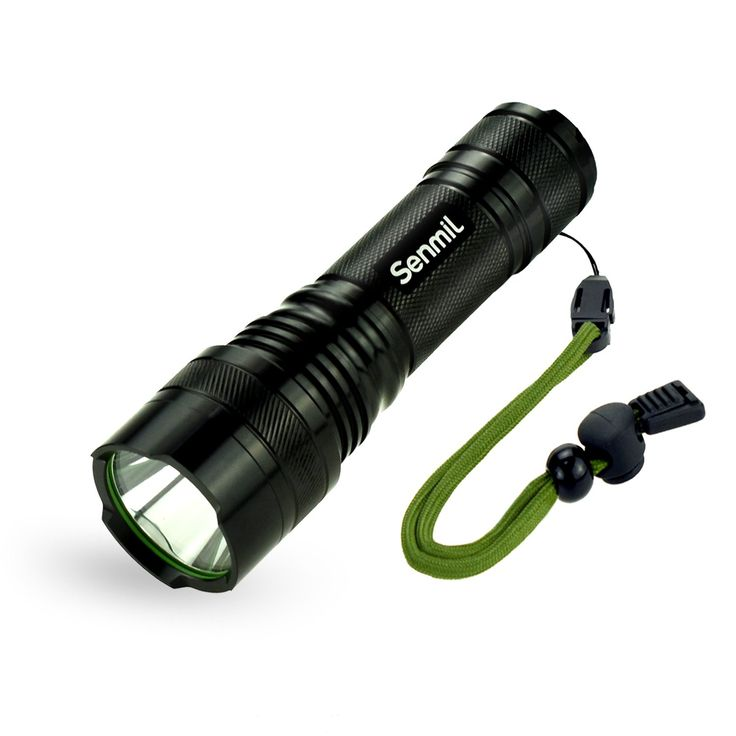 Senmil Super Ultra Bright XPG LED Flashlight Rechargeable Battery 5 Light Modes Portable Water Resistant Camping Torch Handheld Flashlights(Battery is included)