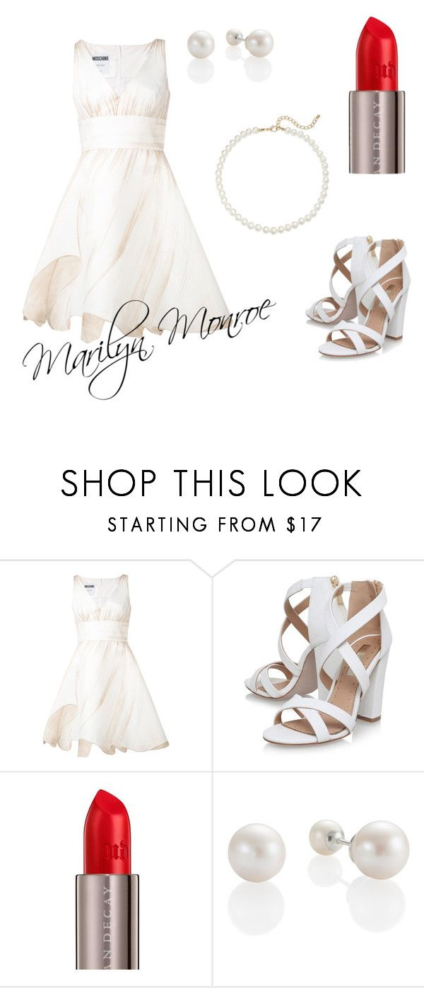 """""""Marilyn Monroe ~ inspired"""" by fotinakii ❤ liked on Polyvore featuring Moschino, Miss KG, Urban Decay, Saks Fifth Avenue and MarilynMonroe"""