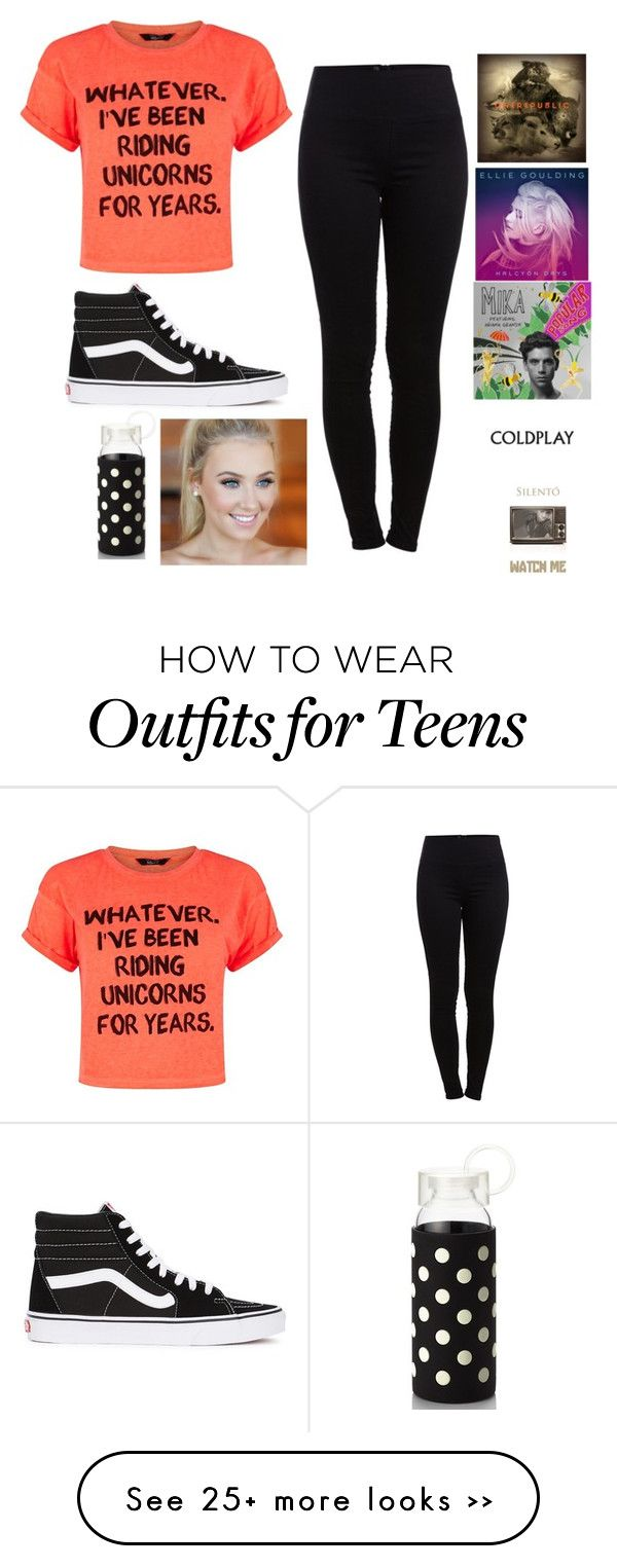 """""""show choir practice"""" by brynlieboo on Polyvore featuring Pieces, Vans and Kate Spade"""