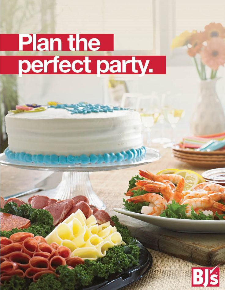 Easy Party Ideas: Summer entertaining is easy with fresh deli platters, dessert trays and custom cakes from BJ's. Order online — ready in 36 hours. BJs.com/partyplanning