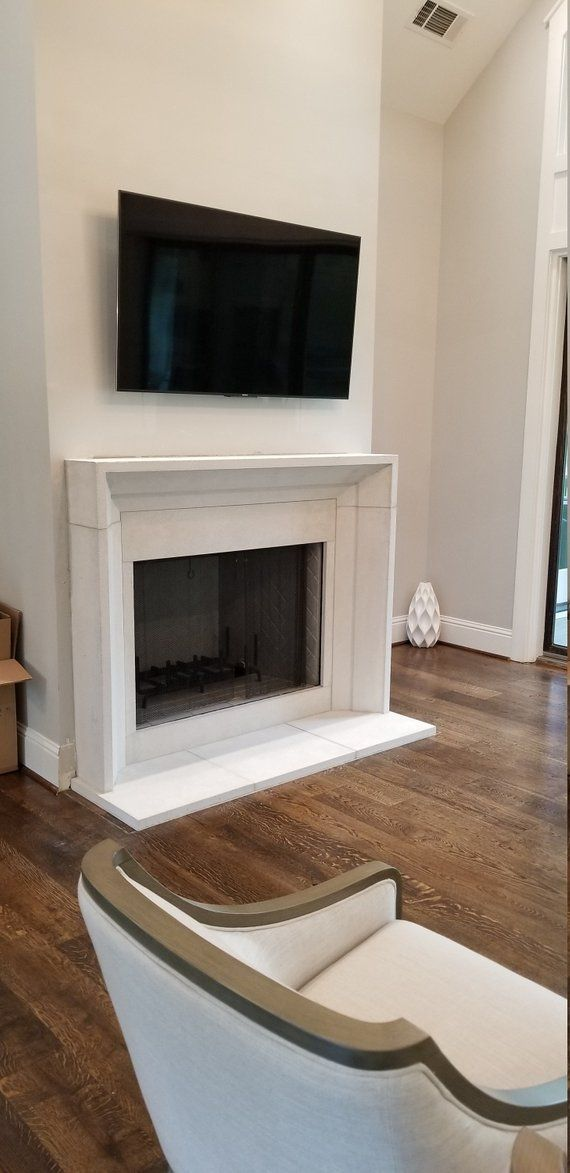 Modern Cast Limestone Fireplace Surround Fireplace Surrounds