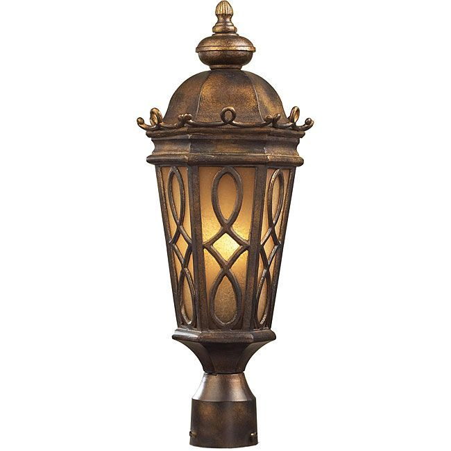 Elk Lighting Burlington Junction Outdoor Post Light Silver Aluminum