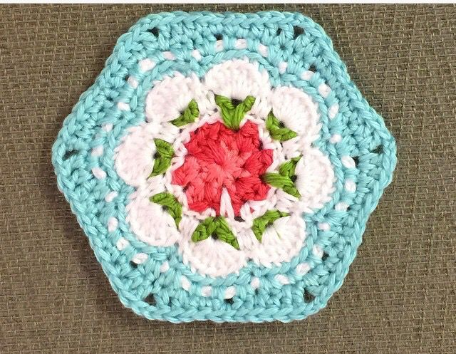Beautiful Cath Kidston Provence Rose Crochet Coaster! Photo from SureGal27 on Instagram