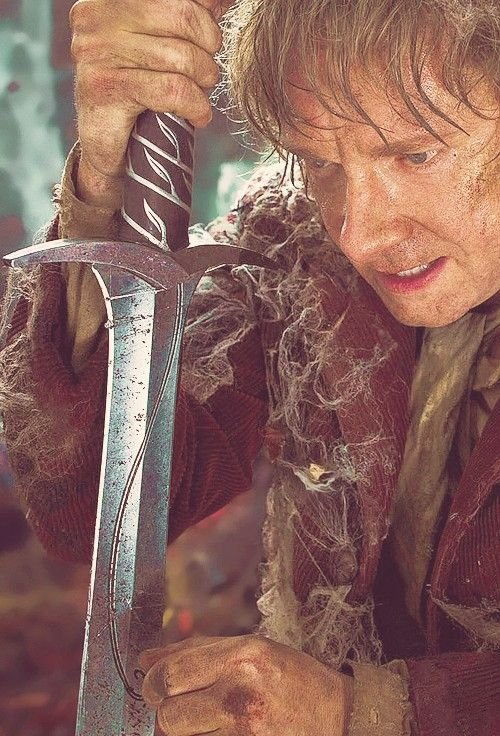 I will name you Sting...The Hobbit <3 *SCREEMS REALLY LOUD* I LOVE THIS PART IN THE BOOK AND MOVIE!!!! <3