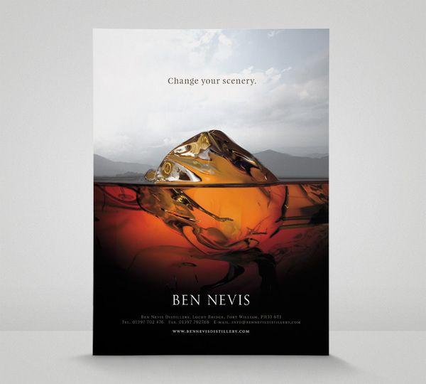 Nice teaser ad for Ben Nevis distillery. (Colin Bennett)