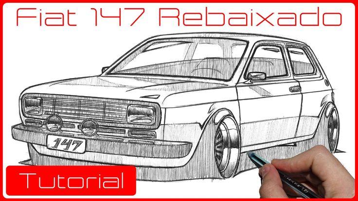Tutorial como desenhar carros - Fiat 147 Rebaixado