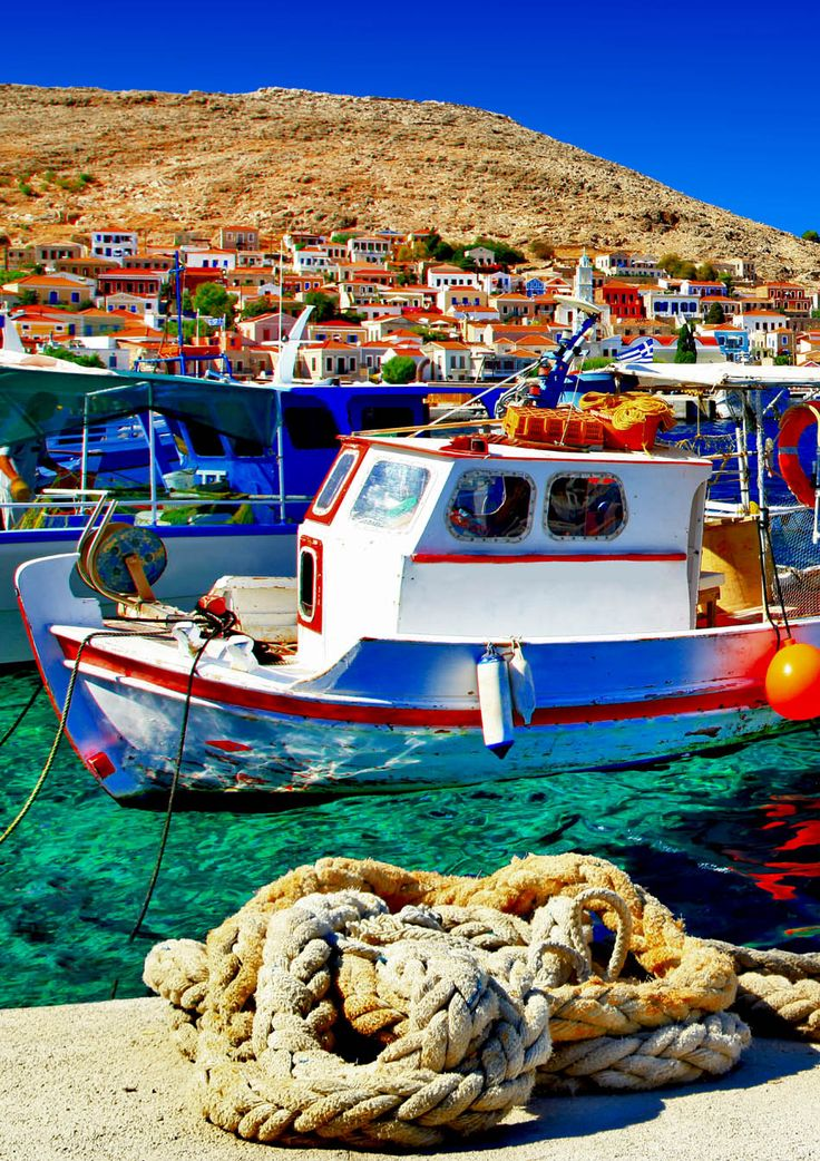 Colorful Halki island, Greece | 25 Gorgeous Pictures Of Greece That Will Take Your Breath Away