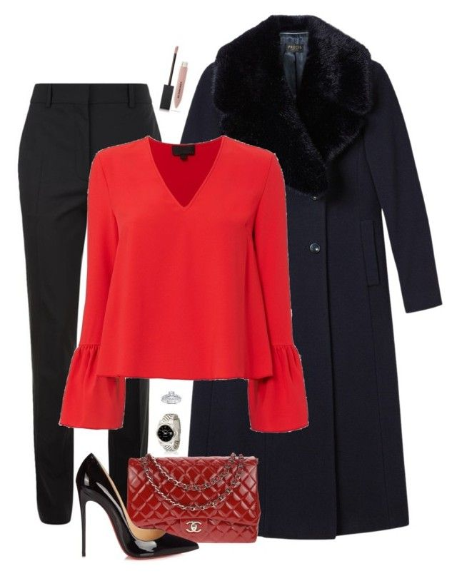 """""""#26"""" by heelsandgo on Polyvore featuring Victoria Beckham, Bliss Diamond, Precis Petite, Exclusive for Intermix, Chanel, Christian Louboutin and Burberry"""