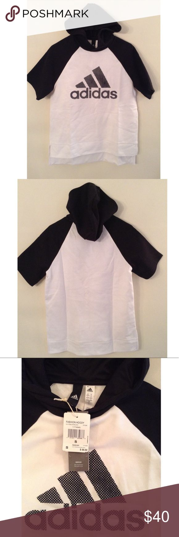 Adidas Black and White Hoody Selling a NWT women's Adidas black and white hoody in size small. adidas Tops Sweatshirts & Hoodies
