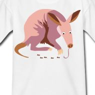 Cartoon Aardvark eating ants.