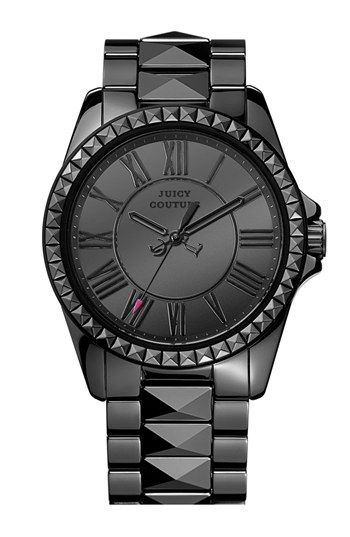 Juicy Couture 'Stella' Pyramid Stud Ceramic Bracelet Watch, 40mm available at #Nordstrom
