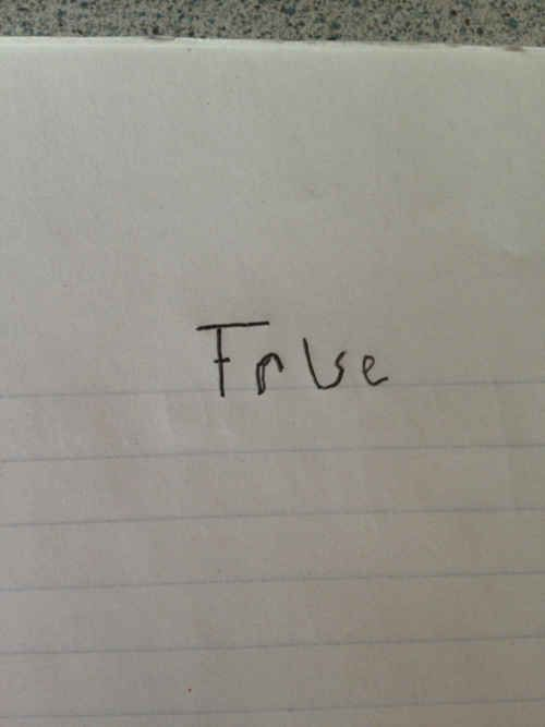 """And this visionary who has found a foolproof response to any """"true or false"""" question."""