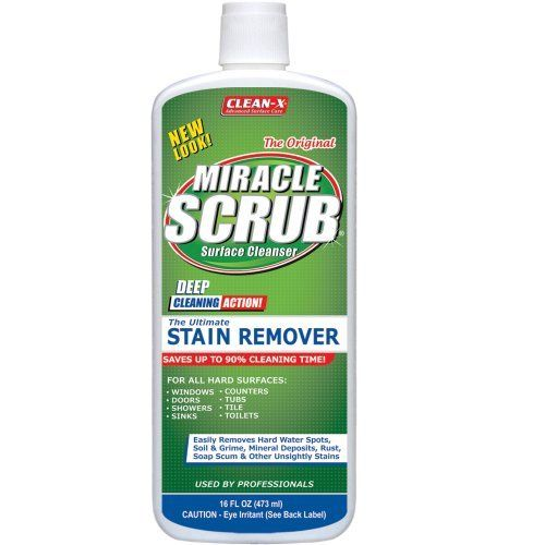Miracle Scrub Stain Remover By Unelko Perfect For Glass Porcelain Ceramic And Other