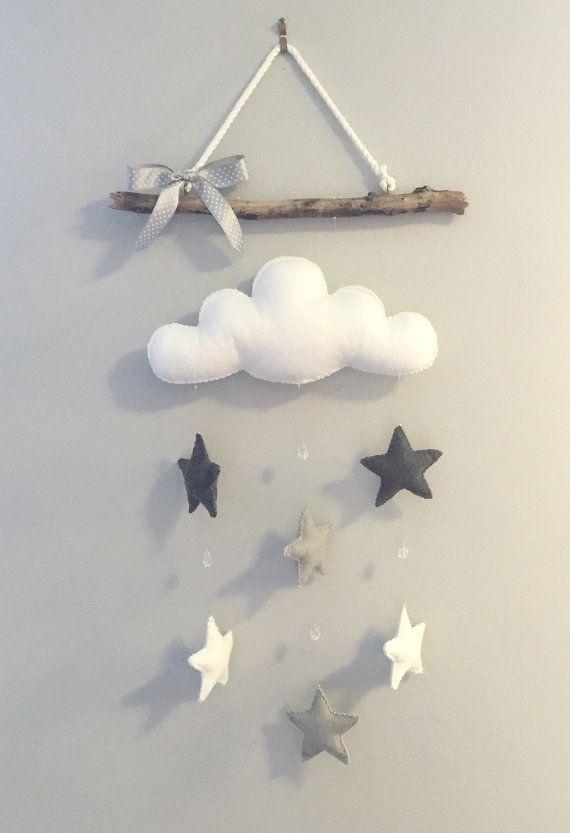 Échelle de gris étoiles et un nuage blanc gonflé sont environ aussi mignon « genre neutre » quil obtient. Il sagit dun succès auprès de ma maman-à-être qui gardent leur sexe une surprise jusquau grand jour !  Dimensions: En raison de la nature du bois flotté, varient les dimensions pour chaque morceau (pas tous les bâtons sont créés égaux!) ... Cela étant dit, la plupart des pièces varient entre 12-14 large et 12-14 longtemps.